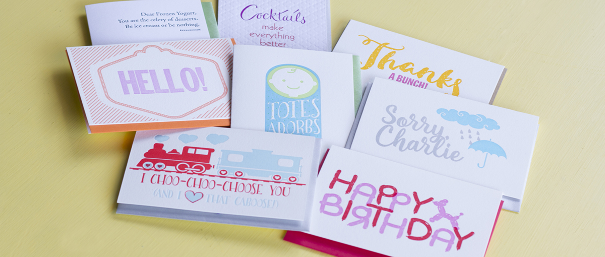 Letterpress Jess Greeting Cards
